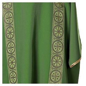 Dalmatica gallone applicato fronte retro tessuto 100% poliestere Vatican