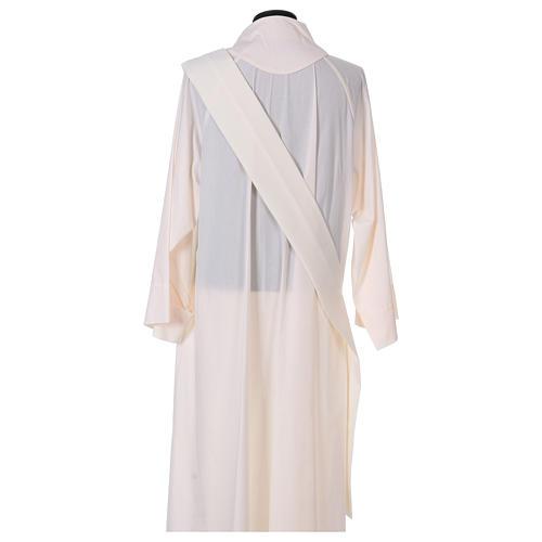 Dalmatica gallone applicato fronte retro tessuto 100% poliestere Vatican 6