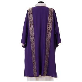Dalmatyka galon aplikowany z przodu tyłu tkanina 100% poliester Vatican s4