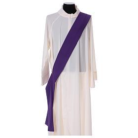 Dalmatyka galon aplikowany z przodu tyłu tkanina 100% poliester Vatican s6