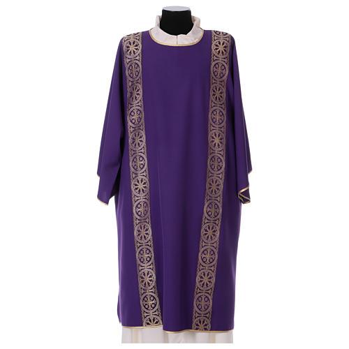 Dalmatyka galon aplikowany z przodu tyłu tkanina 100% poliester Vatican 1