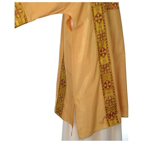 Dalmatica oro faille rigato mezza lana applicazione gallone fronte retro 5
