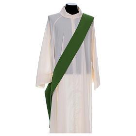 Dalmática bordado cruz flor parte anterior posterior tejido Vatican 100% poliéster s6