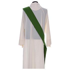 Dalmática bordado cruz flor parte anterior posterior tejido Vatican 100% poliéster s8
