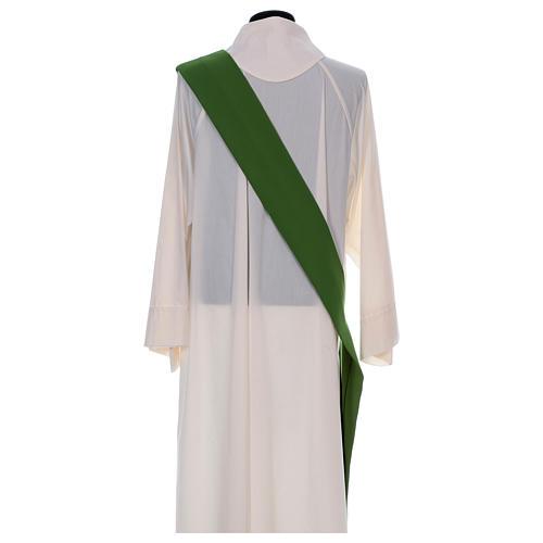 Dalmatica ricamo croce fiore davanti dietro tessuto Vatican 100% poliestere 8