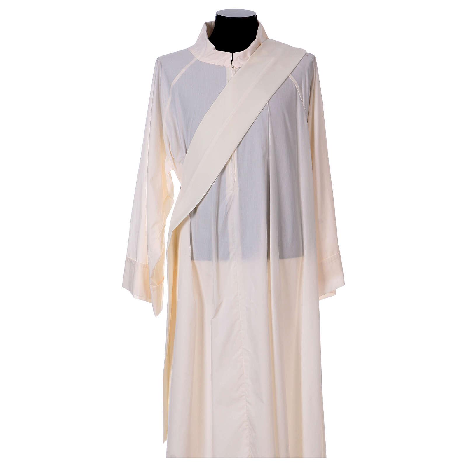 Dalmatique mariale marguerites avant arrière tissu Vatican 100% polyester 4
