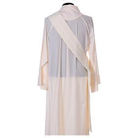 Dalmatique mariale marguerites avant arrière tissu Vatican 100% polyester s6