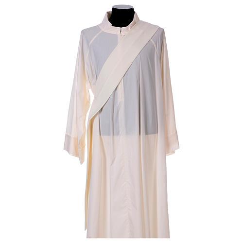 Dalmatique mariale marguerites avant arrière tissu Vatican 100% polyester 5