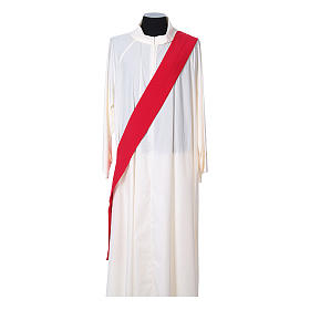 Ultralight Dalmatic with Peace and lilies embroidery on front and back, Vatican fabric 100% polyester s9