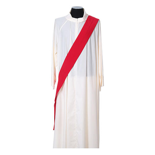 Ultralight Dalmatic with Peace and lilies embroidery on front and back, Vatican fabric 100% polyester 9