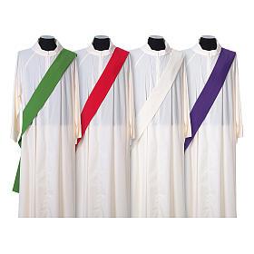 Dalmatica tessuto ultraleggero Vatican ricamo croce decoro fronte retro s7