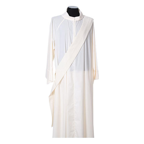 Dalmática tecido ultra leve Vatican bordado Pax Lírios ambos lados 10