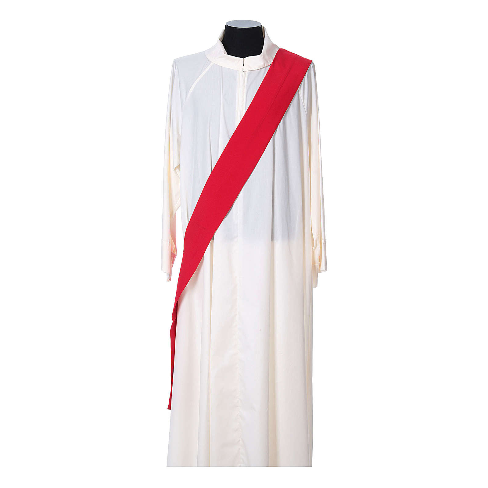 Ultralight Deacon Dalmatic with Peace and lilies embroidery on front and back, Vatican fabric 100% polyester 4