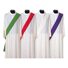 Ultralight Deacon Dalmatic with Peace and lilies embroidery on front and back, Vatican fabric 100% polyester s7