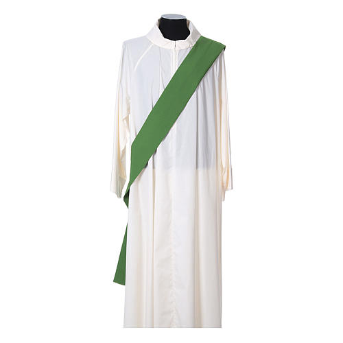 Ultralight Deacon Dalmatic with Peace and lilies embroidery on front and back, Vatican fabric 100% polyester 8