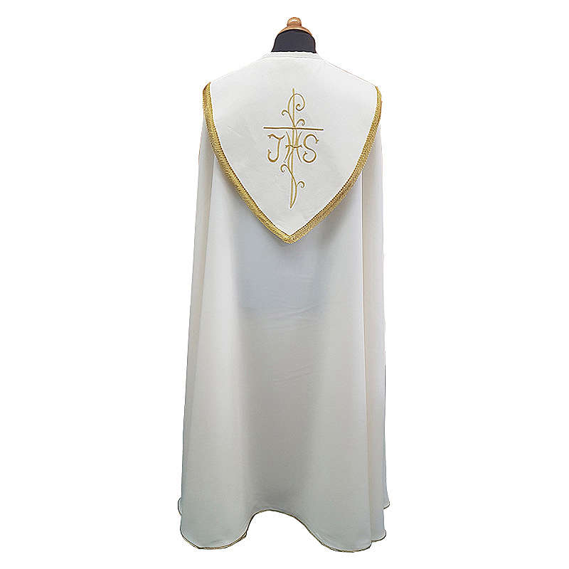 Cope cape with rich embroidery in Vatican fabric 4