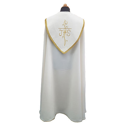 Cope cape with rich embroidery in Vatican fabric 2