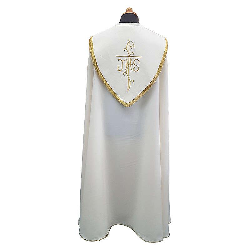 Piviale con ricco ricamo tessuto Vatican poliestere 4