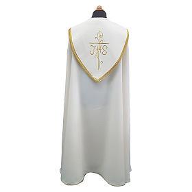 Piviale con ricco ricamo tessuto Vatican poliestere s2
