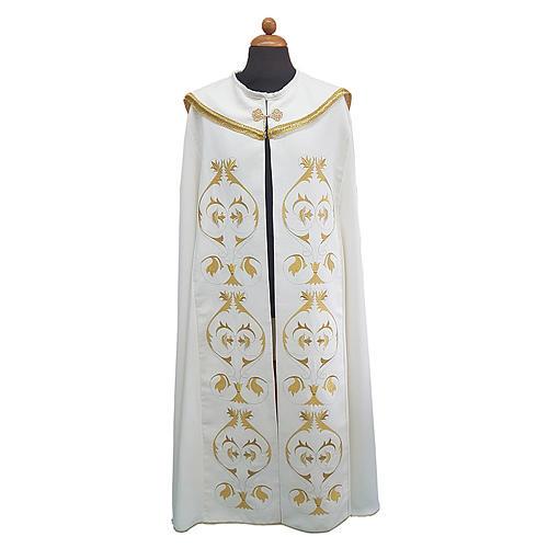 Piviale con ricco ricamo tessuto Vatican poliestere 1