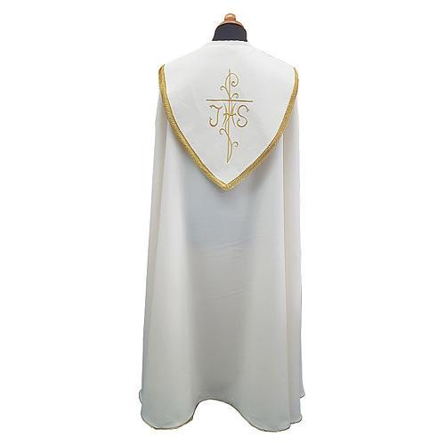 Piviale con ricco ricamo tessuto Vatican poliestere 2