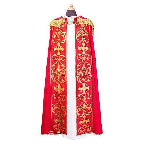 Capa pluvial con estolón aplicado tejido Vatican polièster 1