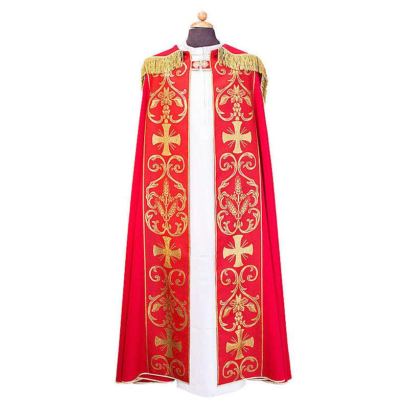 Piviale con stolone applicato tessuto Vatican poliestere 4