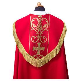 Piviale con stolone applicato tessuto Vatican poliestere s2
