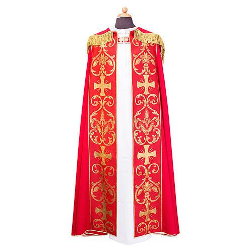 Piviale con stolone applicato tessuto Vatican poliestere 1