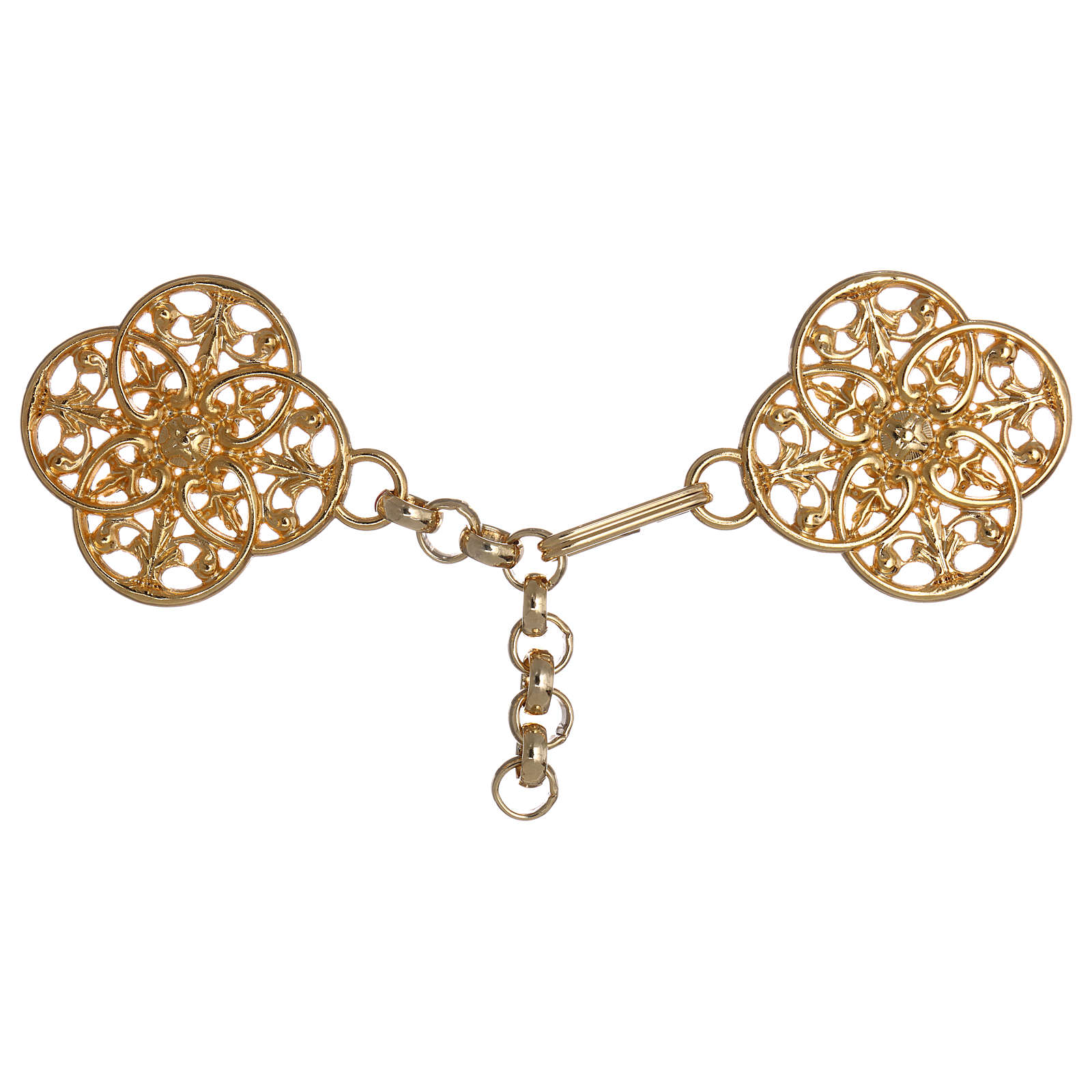 Gold-plated cope clasp with chain 4
