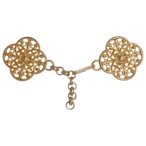 Gold-plated cope clasp with chain 1