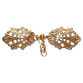 Accroches chape or motif feuilles avec chaîne s1