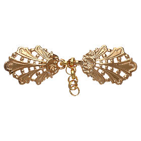 Cope clasp with chain, leaves motif s1