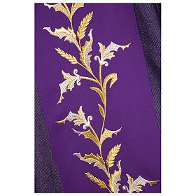 Dalmatica 93% lana 4% pol 3% viscosa ricamo spighe fascione tratteggio oro s2