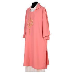 Dalmatica rosa 100% poliestere croce IHS s3