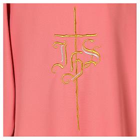 Dalmatica rosa 100% poliestere croce IHS s4