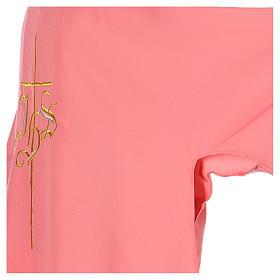 Dalmatica rosa 100% poliestere croce IHS s5