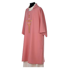 Dalmatic 100% polyester with crosses ears of wheat and IHS writing s3