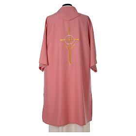 Dalmatic 100% polyester with crosses ears of wheat and IHS writing s4