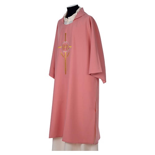 Dalmatic 100% polyester with crosses ears of wheat and IHS writing 3