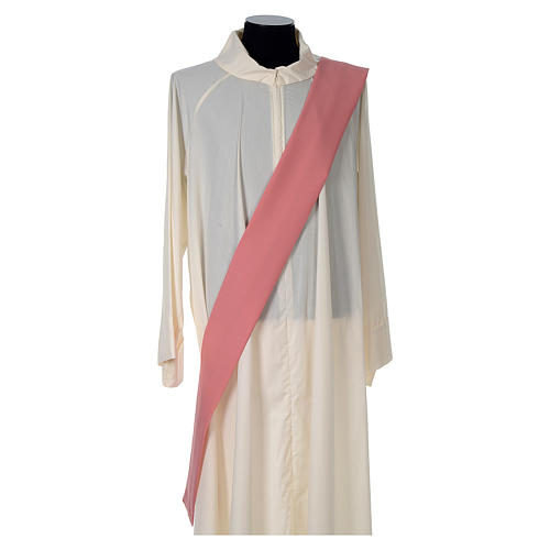 Dalmatic 100% polyester with crosses ears of wheat and IHS writing 5
