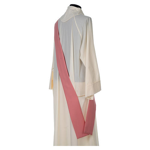 Dalmatic 100% polyester with crosses ears of wheat and IHS writing 6
