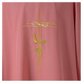 Dalmatica rosa 100% poliestere croce stilizzata spiga s2