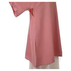 Dalmatica rosa 100% poliestere croce stilizzata spiga s5
