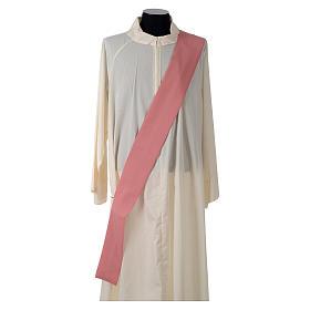 Dalmatica rosa 100% poliestere croce stilizzata spiga s6