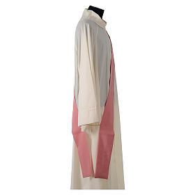 Dalmatica rosa 100% poliestere croce stilizzata spiga s7
