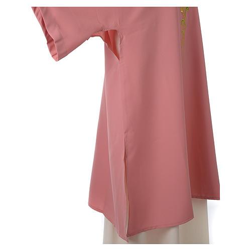 Dalmatica rosa 100% poliestere croce stilizzata spiga 5