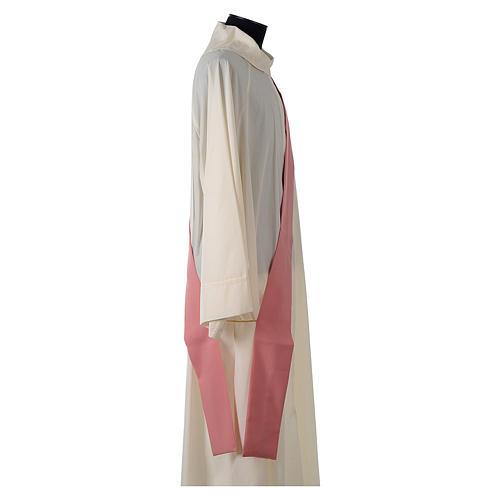 Dalmatica rosa 100% poliestere croce stilizzata spiga 7