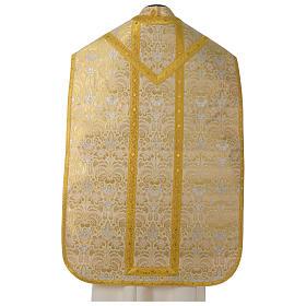 Pianeta broccato oro tessuto fodera raso agremani oro s5