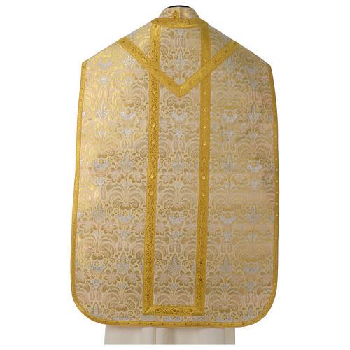 Pianeta broccato oro tessuto fodera raso agremani oro 5